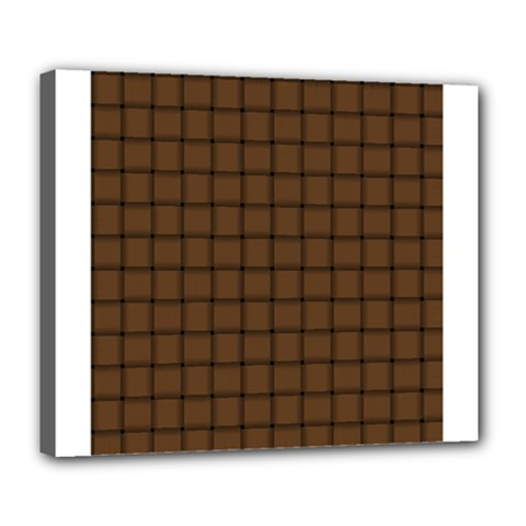 Brown Nose Weave Deluxe Canvas 24  x 20  (Framed)