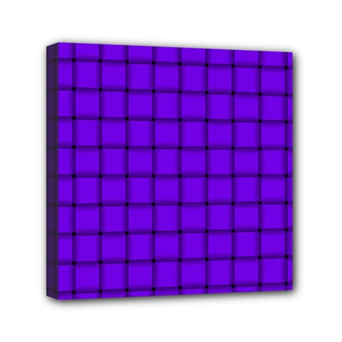 Violet Weave Mini Canvas 6  x 6  (Framed)
