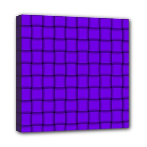 Violet Weave Mini Canvas 8  x 8  (Framed)