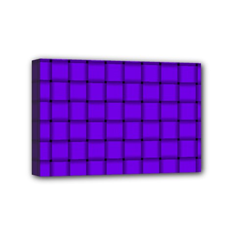 Violet Weave Mini Canvas 6  X 4  (framed)