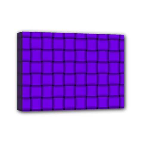 Violet Weave Mini Canvas 7  x 5  (Framed)