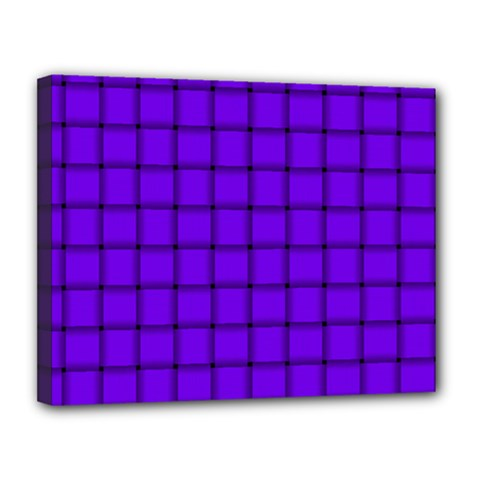 Violet Weave Canvas 14  x 11  (Framed)