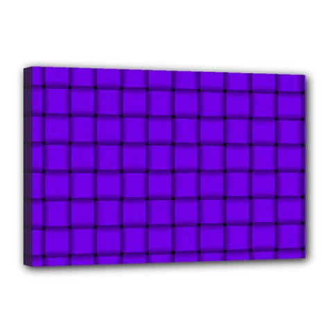 Violet Weave Canvas 18  x 12  (Framed)