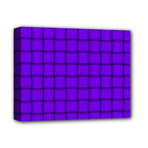 Violet Weave Deluxe Canvas 14  x 11  (Framed)
