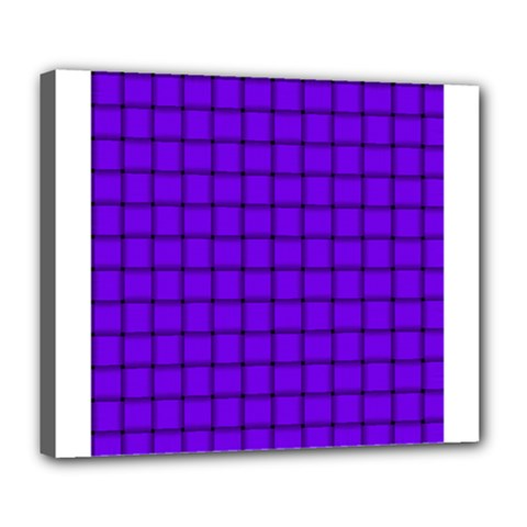 Violet Weave Deluxe Canvas 24  X 20  (framed)