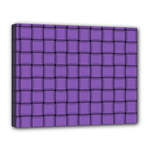 Amethyst Weave Canvas 14  x 11  (Framed)