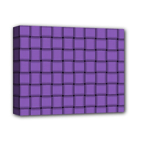 Amethyst Weave Deluxe Canvas 14  x 11  (Framed)