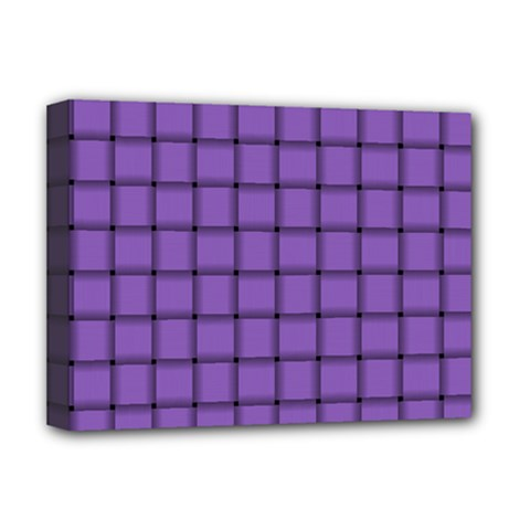 Amethyst Weave Deluxe Canvas 16  x 12  (Framed)
