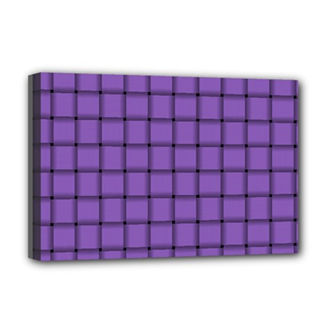 Amethyst Weave Deluxe Canvas 18  x 12  (Framed)