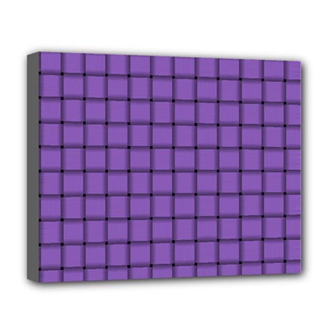 Amethyst Weave Deluxe Canvas 20  x 16  (Framed)