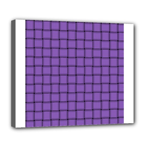 Amethyst Weave Deluxe Canvas 24  X 20  (framed)