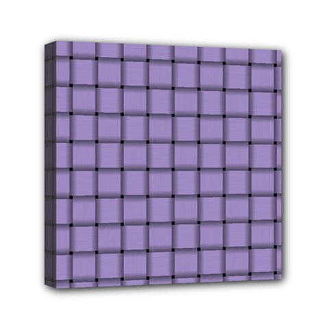 Light Pastel Purple Weave Mini Canvas 6  x 6  (Framed)