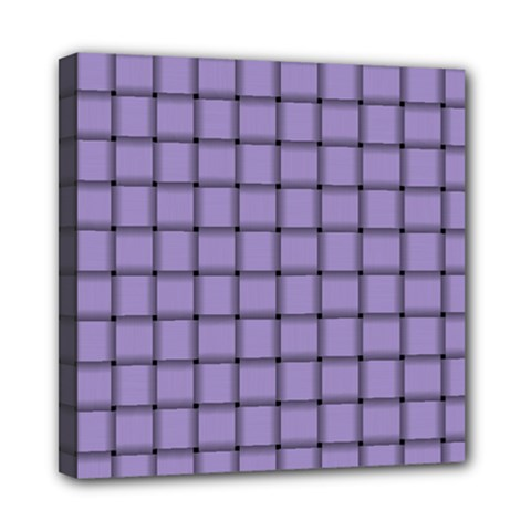 Light Pastel Purple Weave Mini Canvas 8  X 8  (framed)