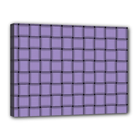 Light Pastel Purple Weave Canvas 16  x 12  (Framed)