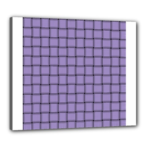 Light Pastel Purple Weave Canvas 24  X 20  (framed)