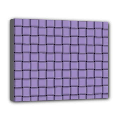 Light Pastel Purple Weave Deluxe Canvas 20  X 16  (framed)
