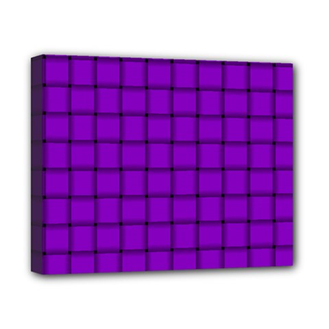 Dark Violet Weave Canvas 10  x 8  (Framed)