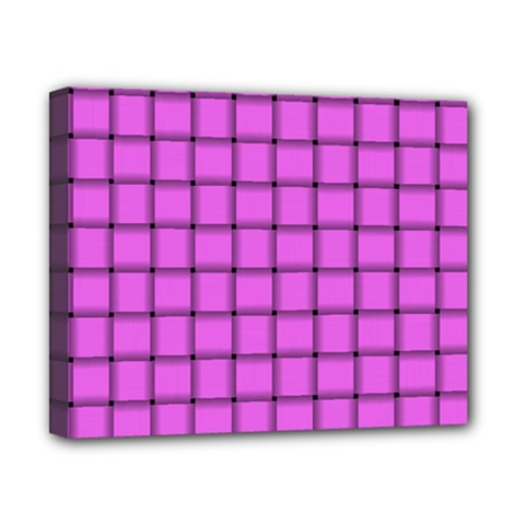 Ultra Pink Weave  Canvas 10  x 8  (Framed)
