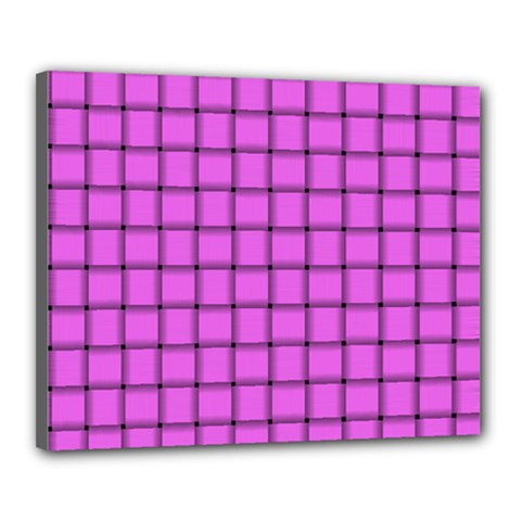 Ultra Pink Weave  Canvas 20  x 16  (Framed)