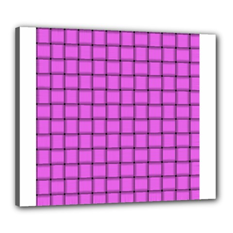 Ultra Pink Weave  Canvas 24  x 20  (Framed)