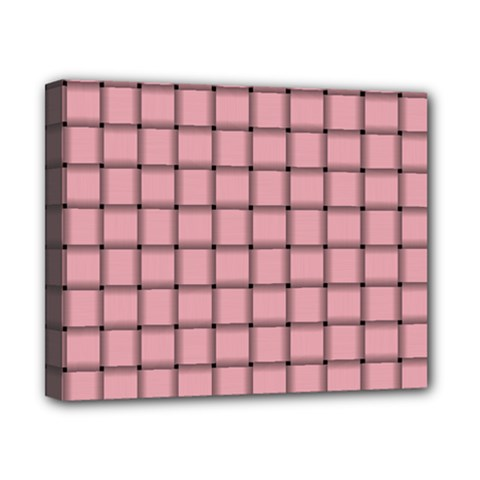 Light Pink Weave Canvas 10  x 8  (Framed)