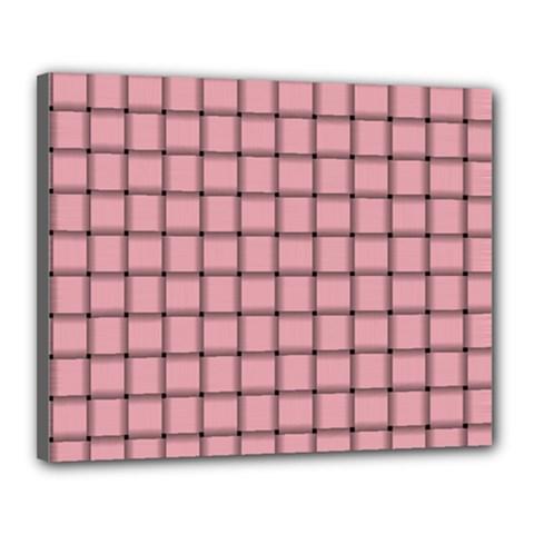 Light Pink Weave Canvas 20  X 16  (framed)