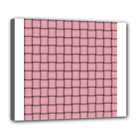 Light Pink Weave Deluxe Canvas 24  x 20  (Framed)