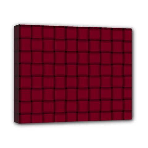 Burgundy Weave Canvas 10  x 8  (Framed)