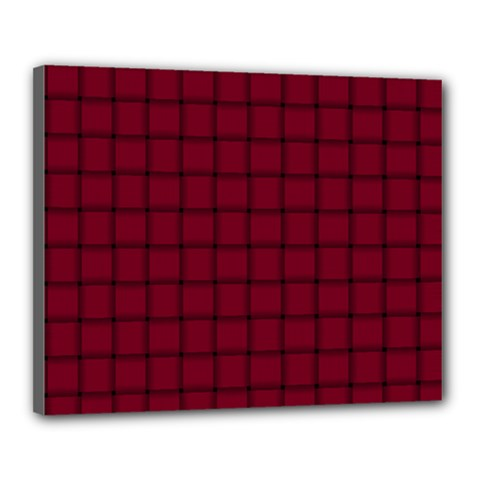 Burgundy Weave Canvas 20  X 16  (framed)