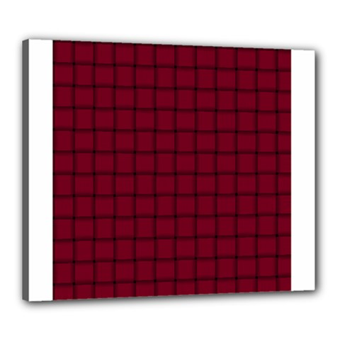 Burgundy Weave Canvas 24  X 20  (framed)