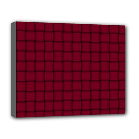 Burgundy Weave Deluxe Canvas 20  X 16  (framed)