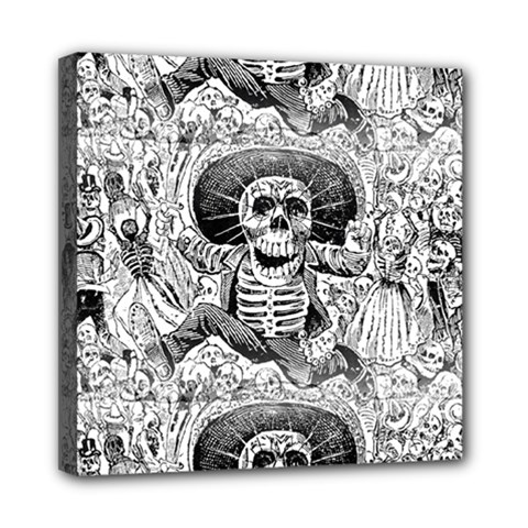 Calavera Oaxaquea By José Guadalupe Posada 1903 Mini Canvas 8  x 8  (Framed)