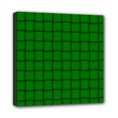 Green Weave Mini Canvas 8  X 8  (framed)
