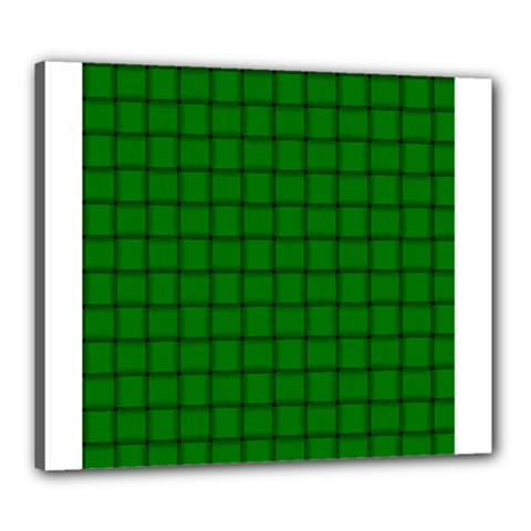 Green Weave Canvas 24  x 20  (Framed)