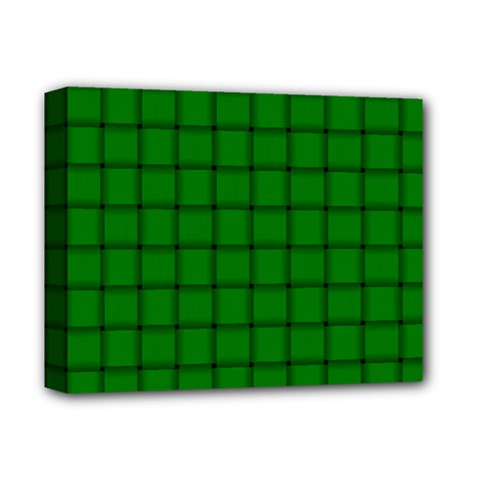 Green Weave Deluxe Canvas 14  X 11  (framed)