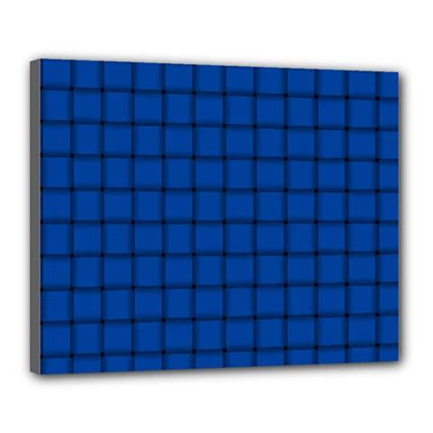 Cobalt Weave Canvas 20  x 16  (Framed)