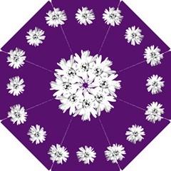 Daisy Chain Purple Bridesmaids Umbrella