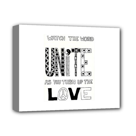 Watch The World Unite As You Turn Up The Love Deluxe Canvas 14  X 11  (framed)