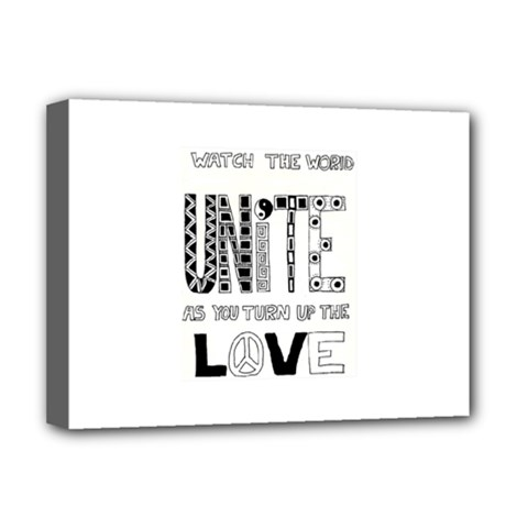 Watch The World Unite As You Turn Up The Love Deluxe Canvas 16  X 12  (framed)
