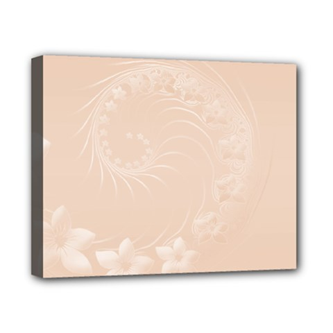 Pastel Brown Abstract Flowers Canvas 10  x 8  (Framed)