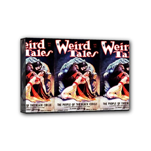 Weird Tales Volume 24 Number 03 September 1934 Mini Canvas 6  x 4  (Framed)