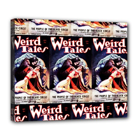 Weird Tales Volume 24 Number 03 September 1934 Deluxe Canvas 24  x 20  (Framed)