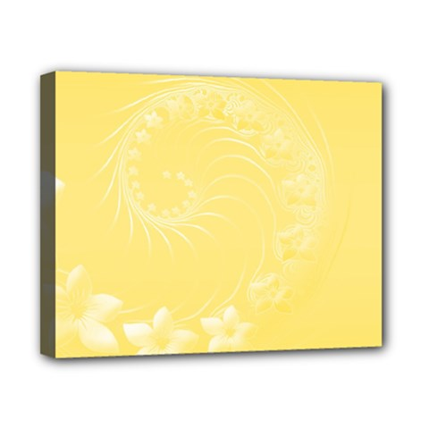 Yellow Abstract Flowers Canvas 10  x 8  (Framed)