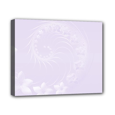 Pastel Violet Abstract Flowers Canvas 10  x 8  (Framed)