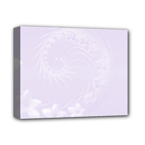 Pastel Violet Abstract Flowers Deluxe Canvas 14  X 11  (framed)