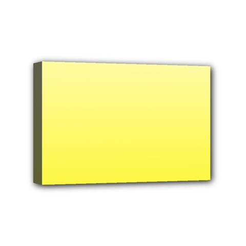 Cream To Cadmium Yellow Gradient Mini Canvas 6  X 4  (framed)