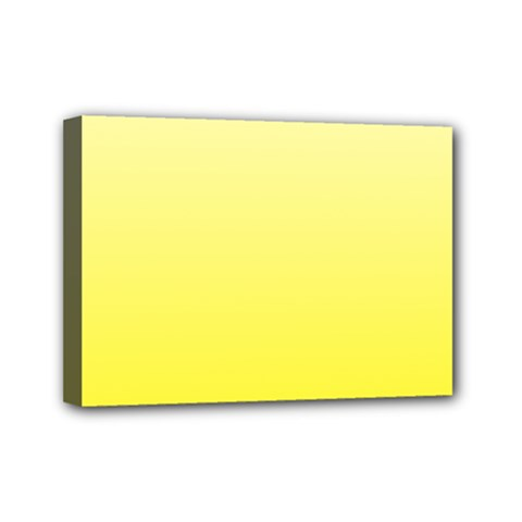Cream To Cadmium Yellow Gradient Mini Canvas 7  x 5  (Framed)