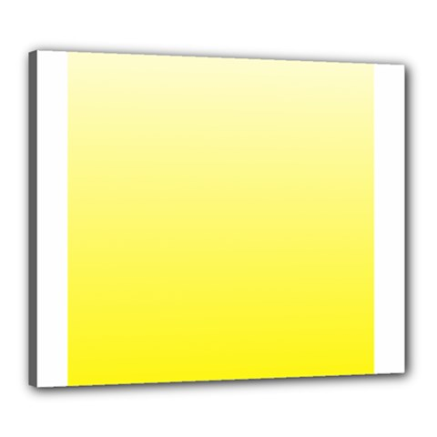Cream To Cadmium Yellow Gradient Canvas 24  X 20  (framed)