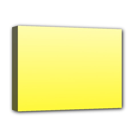 Cream To Cadmium Yellow Gradient Deluxe Canvas 16  X 12  (framed)