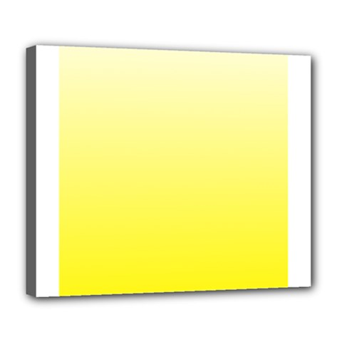 Cream To Cadmium Yellow Gradient Deluxe Canvas 24  x 20  (Framed)